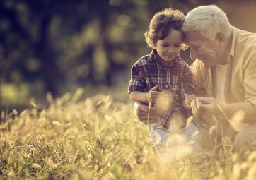 Elderly Man Grandson
