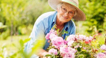 Elderly Lady Flowers