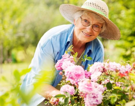 Elderly Lady Flowers