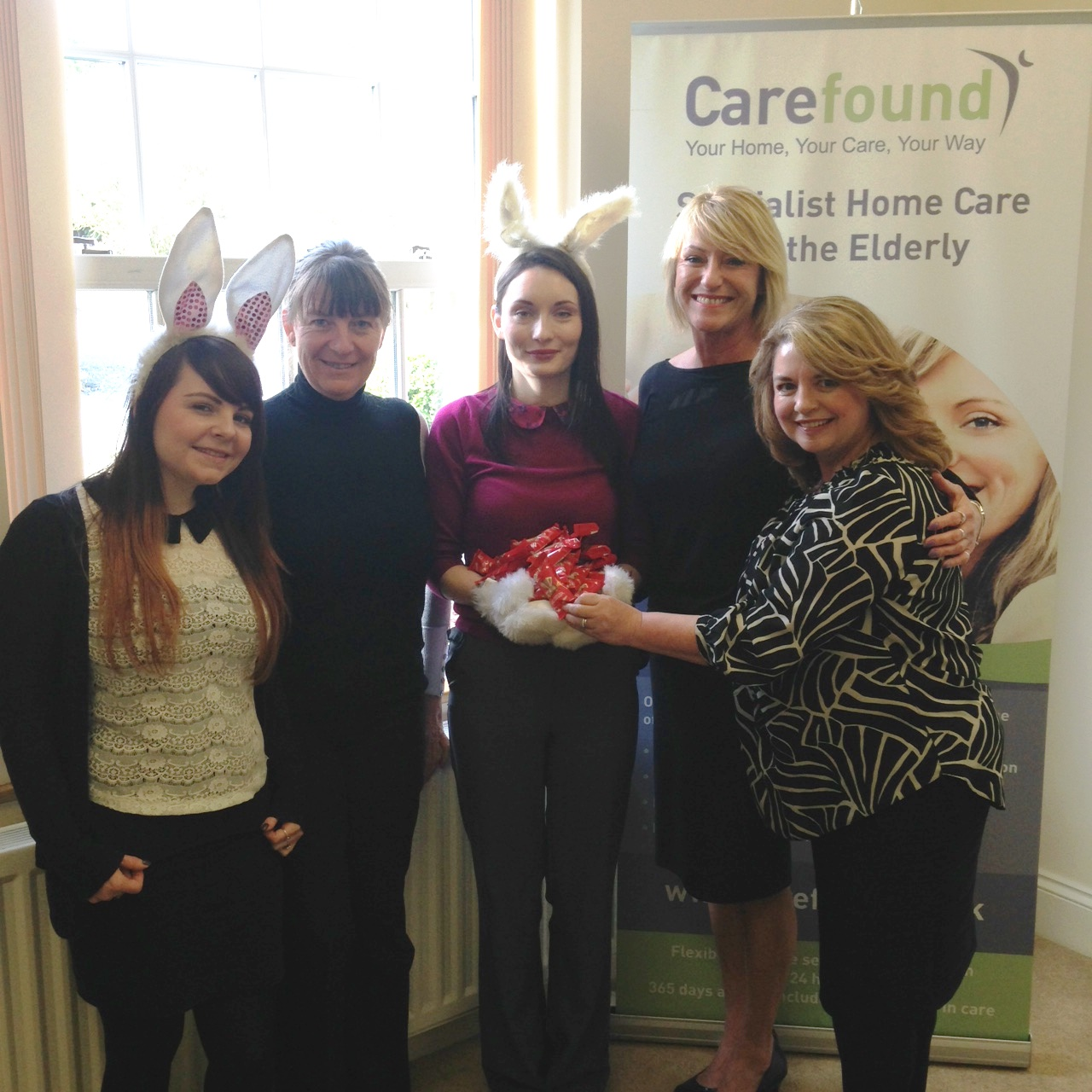The Carefound Home Care team with Easter treats