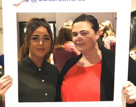 Kirstie Macdonald (Left) and Hayley Gill (Right) at the Judging Day for the Great British Care Awards (North West) in Manchester